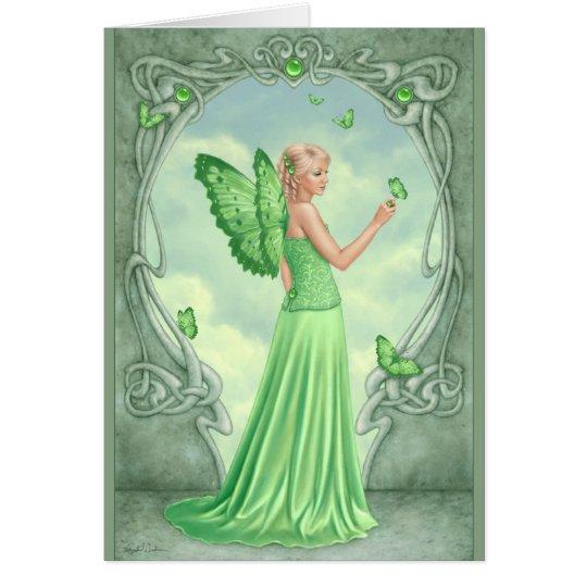 Birthstones - Peridot Fairy Greeting Card