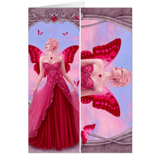 Birthstones - Ruby Fairy Bookmark Card