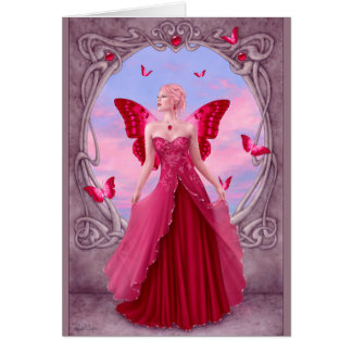 Birthstones - Ruby Fairy Greeting Card