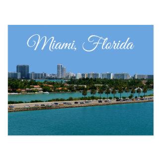 Biscayne Bay  Miami Beach Florida Travel Postcard