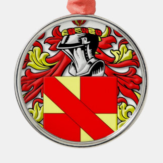 Bischel Coat of Arms Silver-Colored Round Decoration