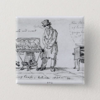Biscuit and Gingerbread stalls at Charing 15 Cm Square Badge