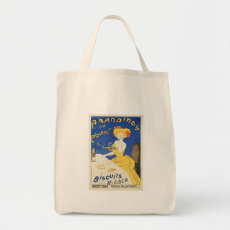 Biscuits Amandines Vintage Food Ad Art Bag