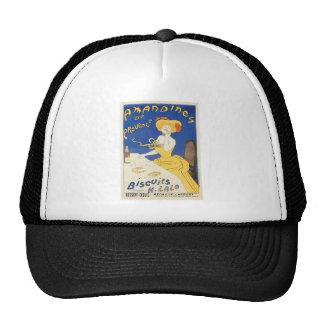 Biscuits Amandines Vintage Food Ad Art Hat