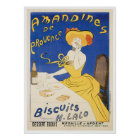 Biscuits Amandines Vintage Food Ad Art Poster