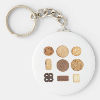 biscuits basic round button key ring