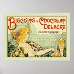 Biscuits & Chocolat Delacre (Sage) Poster