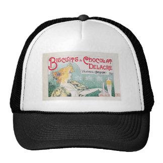 Biscuits Chocolate Vintage Food Ad Art Trucker Hat