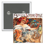 Biscuits Lefevre-Utile, Mucha Button