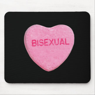 BISEXUAL CANDY HEART - .png Mousepads