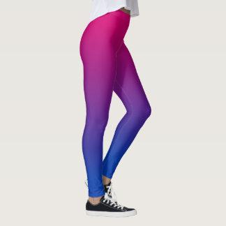 Bisexual flag gradient leggings