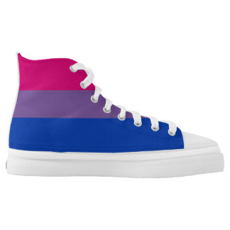 bisexual gay pride flag symbol high tops