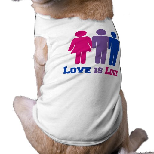 Bisexual Love is Love - Sleeveless Dog Shirt