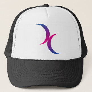Bisexual moon symbol trucker hat