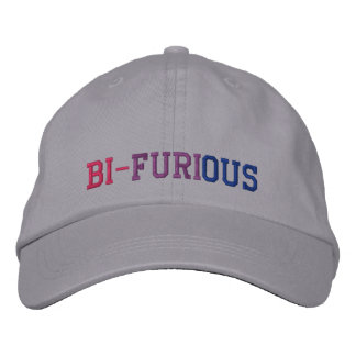 "Bisexual Power ""Bi-Furious"" LGBT Embroidered Hat"