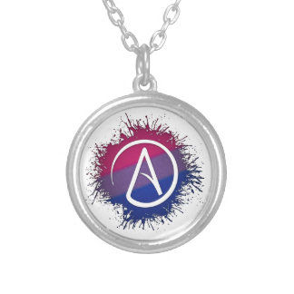 Bisexual Pride Atheist Silver Plated Necklace