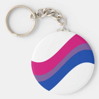 Bisexual Pride Basic Round Button Key Ring