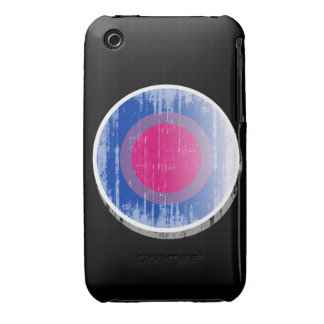 Bisexual Pride Button distressed.png iPhone 3 Case-Mate Cases