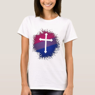 Bisexual Pride Cross T-Shirt