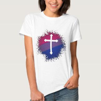 Bisexual Pride Cross Tee Shirts