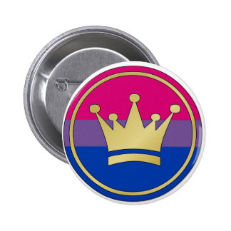 Bisexual Pride Crown 6 Cm Round Badge