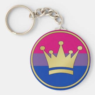 Bisexual Pride Crown Key Ring