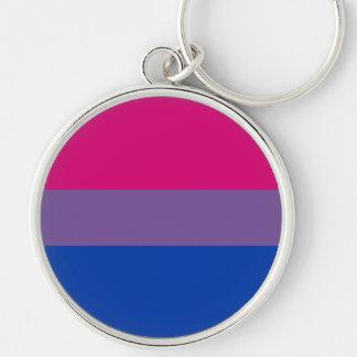 Bisexual Pride Flag Keychain