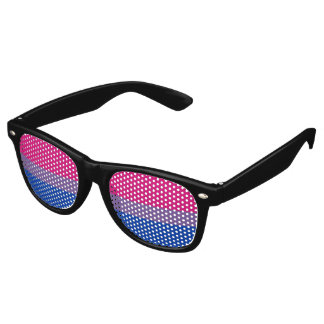 Bisexual Pride Flag Retro Sunglasses