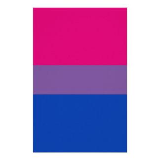 Bisexual pride flag stationery