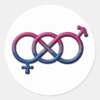 Bisexual Pride Gender Knot Classic Round Sticker