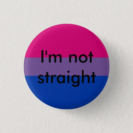 bisexual pride I'm not straight pin