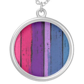 BISEXUAL PRIDE INK BAR -.png Silver Plated Necklace