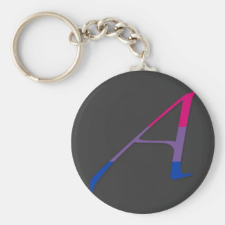 """Bisexual Pride """"Scarlet"""" Letter A Basic Round Button Key Ring"""