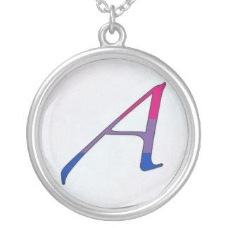 Bisexual Pride Scarlet Letter A Necklace