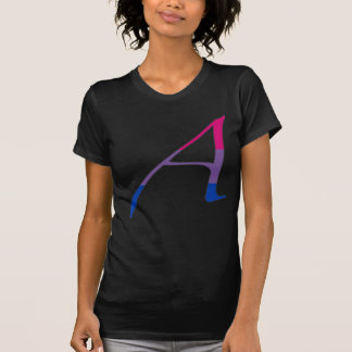 """Bisexual Pride """"Scarlet"""" Letter A T-Shirt"""