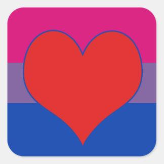 Bisexual Pride Square Sticker