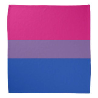 BISEXUAL PRIDE STRIPED HORIZONTAL BANDANA