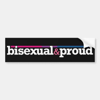 Bisexual&proud Black Bumper Sticker