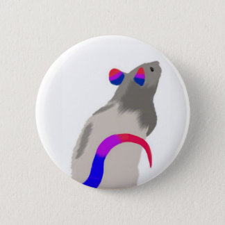 Bisexual Rat 6 Cm Round Badge