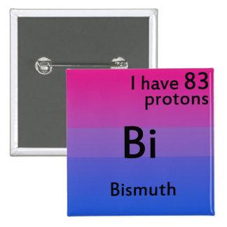 Bisexual science 15 cm square badge