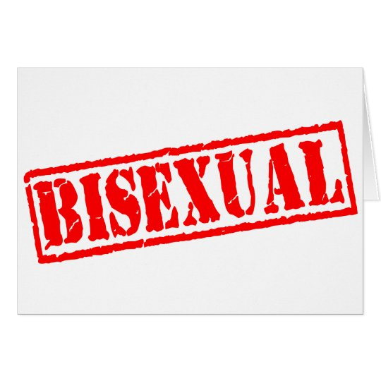 Bisexual Stamp Greeting Card