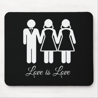 BISEXUAL WEDDING LOVE IS LOVE -.png Mouse Pad