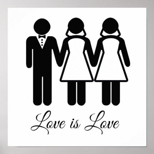 BISEXUAL WEDDING LOVE IS LOVE -.png Posters