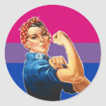 Bisexual Woman Pride Round Stickers