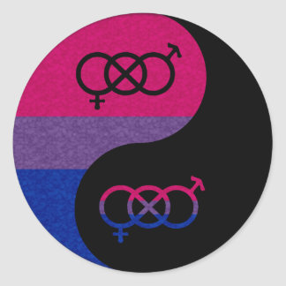 Bisexual Yin and Yang Classic Round Sticker