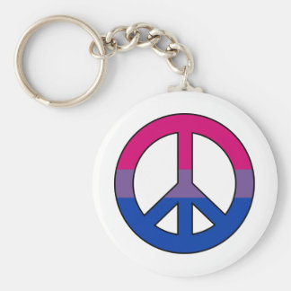 Bisexuality flag peace sign Keychain Keychains