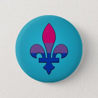 Bisexuality pride fleur-de-lis  Button