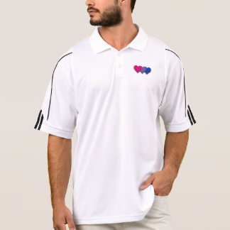 Bisexuality pride hearts Polo Shirt