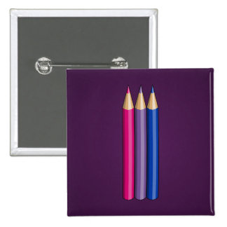 Bisexuality pride pencils Button Buttons