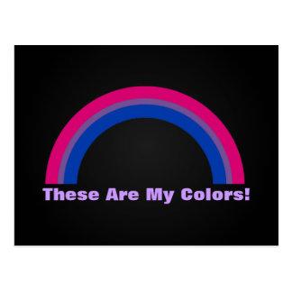 Bisexuality rainbow pride Postcard